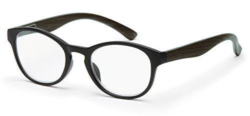 Filtral runde Lesebrille in Pantoform | Moderne Lesehilfe aus Kunststoff mit Federbügel | Vollrand in schwarz, 2,0 dpt, F4542696