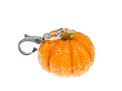 Miniblings Kürbis Halloween Gemüse Charm Zipper Pull Anhänger Fimo 3D Herbst (Charms Halloween Clay)