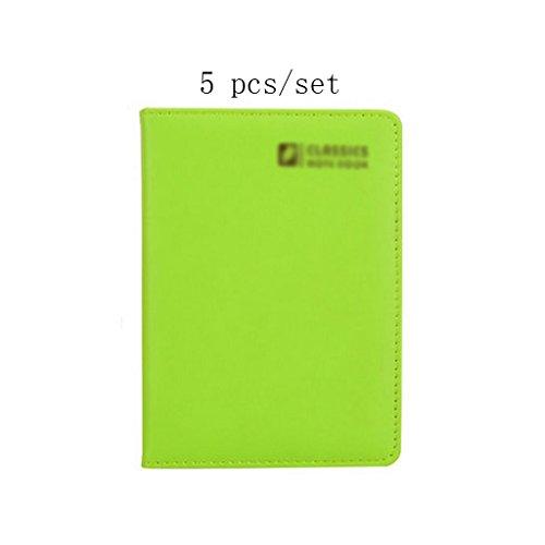 Liu Yu·Bürofläche, Büro Schreibwaren grün A6 Notebook High-Grade Verdickung Notebook 5 Stück / Set -
