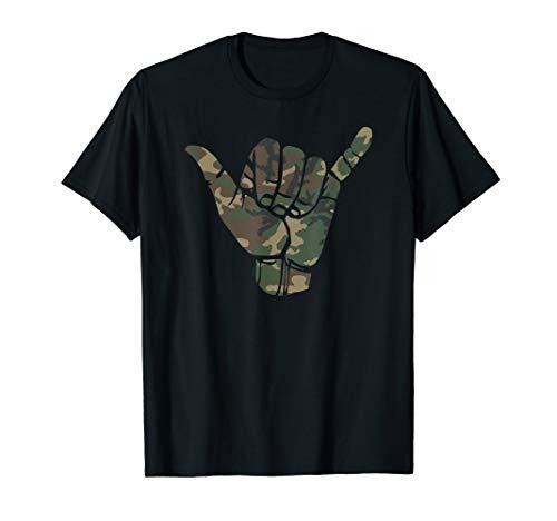 Anvil Camouflage (Surfs Up Camouflage Hawaii Shaka Sign Shirt Art-Retro Shaka T-Shirt)
