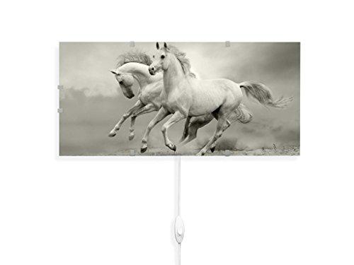 banjado YOURDEA - Wandleuchten Wechsel Bild für IKEA GYLLEN 56cm mit Motiv: Wilde Pferde