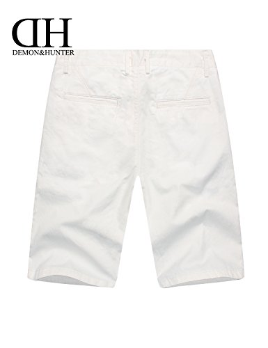 Demon&Hunter Herren Weiß Kurze Hosen S98Y1 Weiß