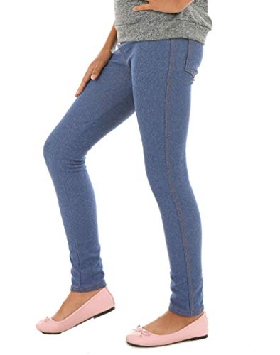 Dykmod Mädchen Leggings Treggings Hose Jeans-Look hk1 Blau marmor 152
