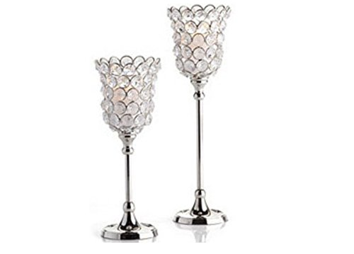 Crystal Tealight Candle Stand Hurricane Style Box Of 2 Pcs Candle Holders Best Birth Day Anniversary wedding Diwali Gifts