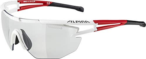 Alpina Sonnenbrille Performance EYE-5 SHIELD VL+ Sportbrille, weiß, rot, schwarz, One Size
