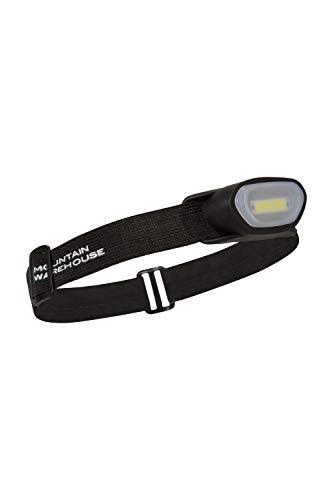 Mountain Warehouse Lampe Frontale COB Active -Légère, avec Plusieurs Modes d'éclairage, Performance énergétique, LED Durable - Cyclisme, Camping Noir Taille Unique