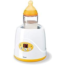 Beurer BY 52 - Calienta biberones y calienta potitos digital, color blanco y amarillo