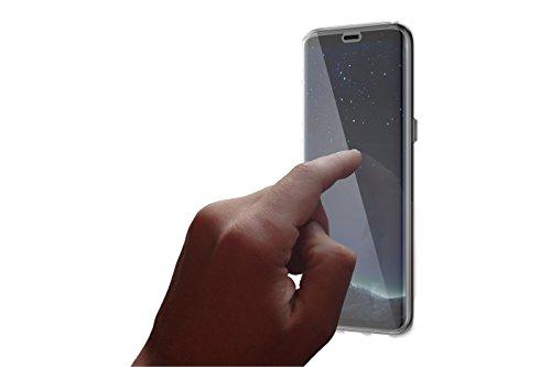 Otterbox Für Skins Galaxy (OtterBox Clearly Protected Skin Bundle Extra Slim Silikon Schutzhülle + und Alpha Glass Display Schutzglas, geeignet für Galaxy S8)