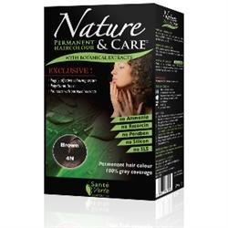 Santé verte - Nature & soin Châtain 4N sans ammoniaque, sans paraben, sans silicone et sans résorcine