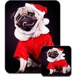 Posavasos de CARLINO vestido de Papá Noel Navidad