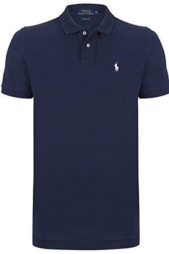 Ralph Lauren Herren Poloshirt Custom Fit *Small Pony Weiß* Size: S / Navy