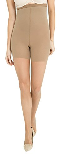 Spanx Womens Luxe High-Waisted Body-Shaping Sheer Slimming Tights 15 Denier, Nude, Gr. D (High-waisted Shaper)