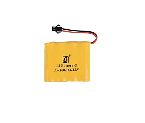 MeterMall - Batteria Ricaricabile da 4,8 V, 700 mAh/1800 mAh/2800 mAh, Tipo M-Style, AA Ni-MH, per Giocattoli elettrici, Auto RC, Camion e Barche radiocomandat