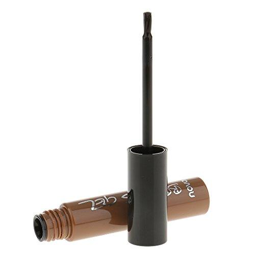 Sharplace 3 Couleurs Teinture à Sourcil Gel Beauté Sourcils Tatouage Magique Couleur Peel-off Waterproof et Longue Tenue 6g - Brun naturel