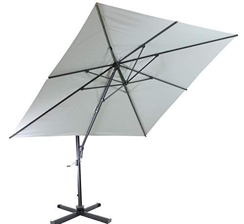 Ampelschirm Sonnenschirm | Sandfarben | 300 x 300 cm | Viereckig / Quadratisch | SORARA | SICILIA |...