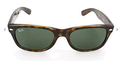 Ray-Ban Unisex Sonnenbrille New Wayfarer, Tortoise, Large (Herstellergröße: 55)