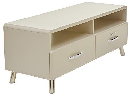 Tenzo 4942-083 Cobra Designer TV-Bank, 46 x 118 x 43 cm, MDF lackiert, warm grey Bank, Gewichte, Ersatzteile