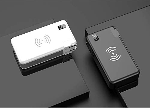 TIITAN Wireless Intelligent Charger,10000 mAh Portable Power Bank Detachable USB Wall Charger Multi-Protection Image 2
