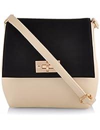 OranGey Fashion - Black & Off-White Sling Bag