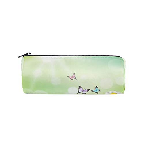 isaoa Bleistift Fall Kleine Daisy tragbar Runder Stifthalter Pen Tasche für Handtasche geeignet für Kinder Student oder Officer Travel Make-up Tasche -