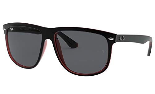 Ray-Ban Highstreet TOP MAT Black on RED Trasparent / Grey RB 4147 6171/87 60mm