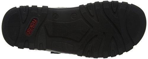 Rieker 25084 Sandals-men Herren Sandalen Schwarz (schwarz/schwarz / 00)