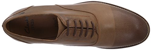 Clarks Exton Oak, Derbies à lacets homme Marron - Braun (Tobacco Leather)