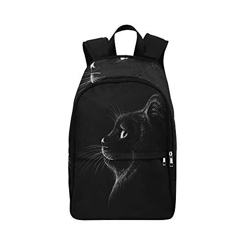 Vektor Logo Cat Tshirt Design Outwear Lässige Daypack Reisetasche College School Rucksack Für Männer und Frauen