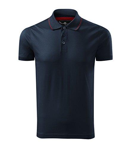 OwnDesigner by Adler Modisches Herren Poloshirt Grand - Super Premium Stoff & Shirt Schnitt | 100% merzerisierte Baumwolle Seidenglanz | S - XXXL (259-Navy-L)