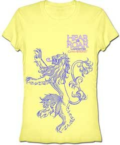 Banana Juniors T-shirt (Hbo Game of Thrones Hear Me Roar Lannister Junior's Girly Banana Yellow T-Shirt | S)
