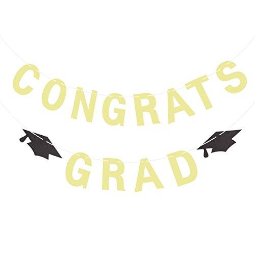 Congrats Banner Herzlichen Glückwunsch Banner Doktor Hut 2018 Graduation Banner Graduation Party Dekoration (Congrats Grad Banner)