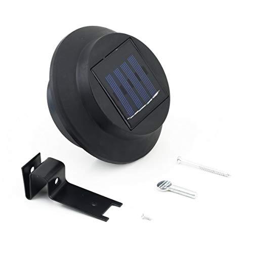 Heaviesk Solar angetriebene im Freiengarten-Lichtgitter-Zaun-Wand-Dach-Yard 3 LED-Lampe für Garten-Patio-Weg im Freien -