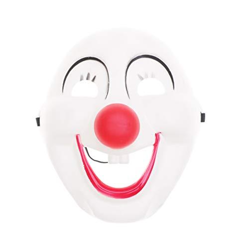 Amosfun Plastik Halloween Clown Maske verkleiden Sich Clown Smiley Plastik Maske Maskerade Karneval Kostüm Prop Dress-up Zubehör