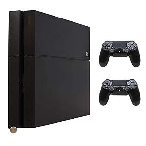 HumanCentric PS4 Original Halterung + 2 Controller Halterungen Bundle (schwarz) – Montage an der Wand oder auf der Rückseite des Fernsehers – Patent angemeldet