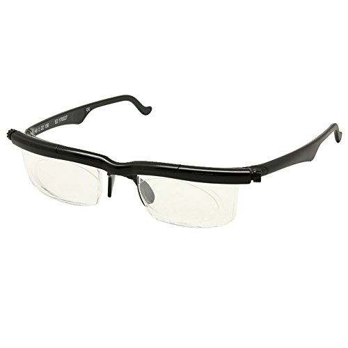 01154a5e4404 Adlens Focus Adjustable Eyeglasses -4D to +5D Diopters Myopia Magnifying Reading  Glasses Variable Strength