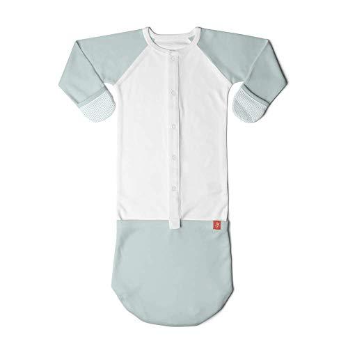 goumikids Schlafanzug im Schlafsack für Baby - Mädchen 3-6 Monate drops Aqua Flip Mitt