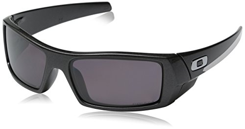 Oakley Herren Gascan 901418 60 Sonnenbrille, Schwarz (Black/Grey),
