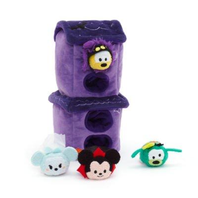 Halloween Tsum Tsum Micro Stofftier Set, beinhaltet; Ghost Braut Minnie, Vampire Mickey, Spider Pluto und Frankenstein Goofy (Mickey Und Pluto Halloween)