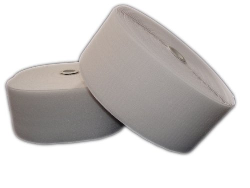 Bande Velcro 100mm Weiß zum aufnähen