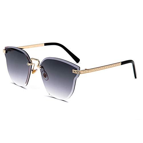 WDLQwrnd Rahmenlose Mehrfarbige Sonnenbrille Ocean Lens Swing Weibliche Katze Ohr Sonnenbrille Crystal Solar Frame, Geeignet Für Autofahren Oder Reisen, Urlaub, Sportaktivitäten