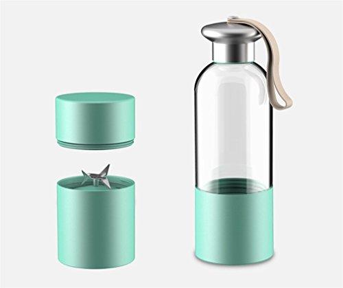 LUCKY CLOVER-A Licuadora, Batidora Exprimidor, Botella De Deporte Juicer De Frutas con Leche (500ML) BPA-Free, Taza Portátil, Verde Menta,Single