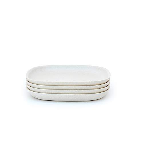 BIOBU by EKOBO 34147 Lot de 4 petites assiettes blanc