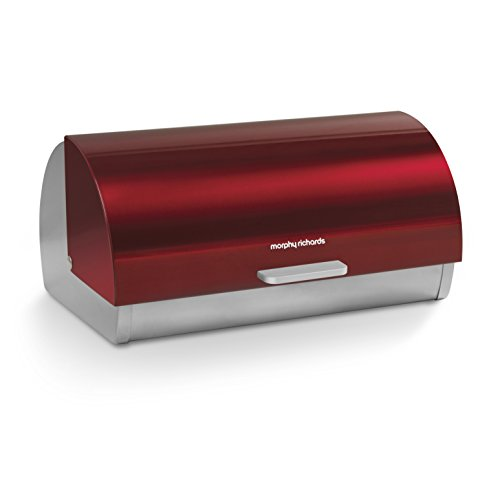 Morphy Richards Richards - Panera con Tapa Frontal Deslizante, Color Rojo