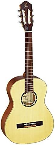 Ortega Guitars R133-3/4 Family Series Pro 3/4 Body Size Nylon 6-String Guitar with Spruce Top, Mahogany Body, Gloss