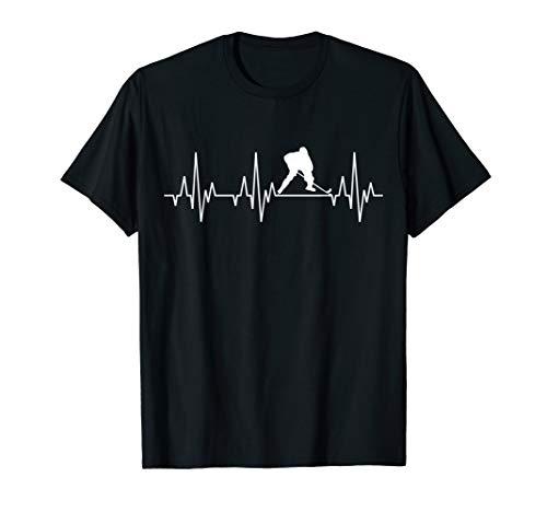 Eishockey Herzschlag T-Shirt Eis Hockey Spieler Mannschaft - Lustige Hockey-t-shirts