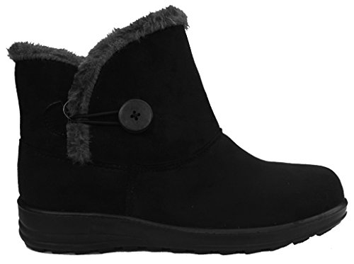 Cushion Walk Womens Slip-on Comfort Fit Winter Boots in Black - Carly...