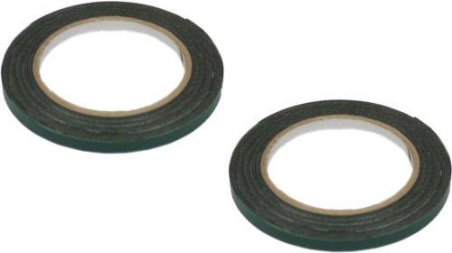 set-of-2-6mm-x-5m-black-multi-purpose-double-sided-adhesive-automotive-foam-car-body-tape