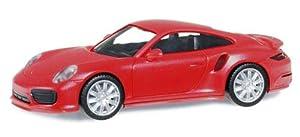 Herpa 028615-002 Porsche 911 Turbo, Color Rojo