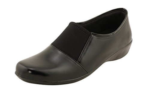 Royal Indian Exposures Formal Stylish trendy Shoes/Black Shoes for Women/Girls Material : Leather