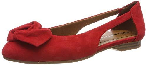 Tamaris Damen 1-1-22106-22 686 Geschlossene Ballerinas, Orange (FIRE 686), 41 EU - Ballerinas Schuhe Frauen Orange